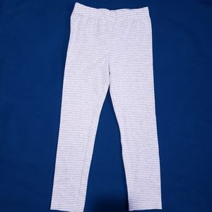 5T Carter's Grey and White Leggings Pants